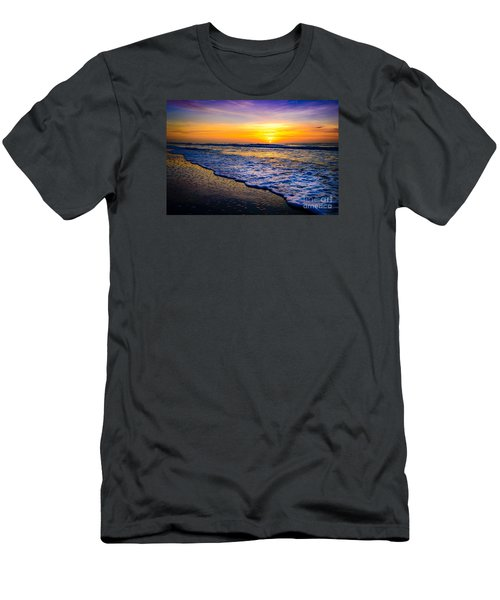 Ocean Drive Sunrise Men's T-Shirt (Slim Fit) by David Smith