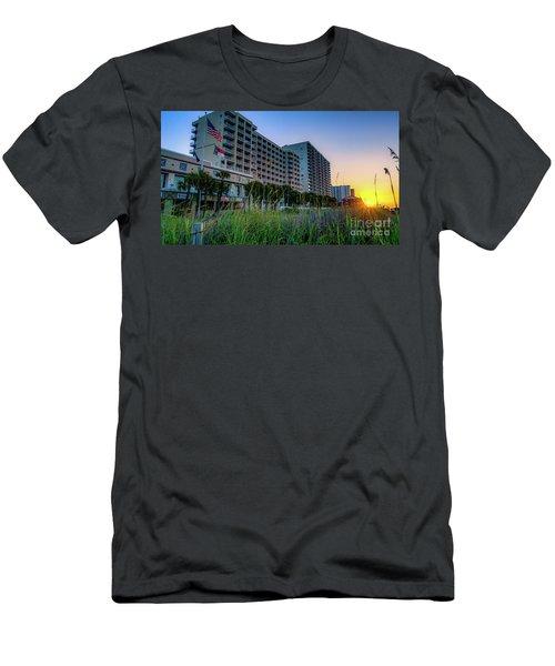 Ocean Drive Sunrise North Myrtle Beach Men's T-Shirt (Slim Fit) by David Smith