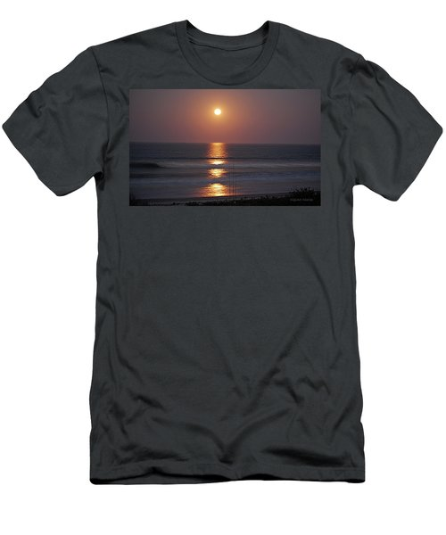 Ocean Moon In Pastels Men's T-Shirt (Slim Fit) by DigiArt Diaries by Vicky B Fuller
