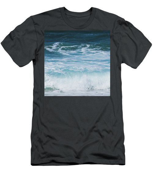 Ocean Waves From The Depths Of The Stars Men's T-Shirt (Slim Fit) by Sharon Mau