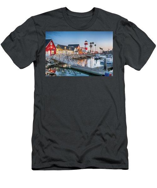 Oceanside Harbor Village At Dusk Men's T-Shirt (Athletic Fit)