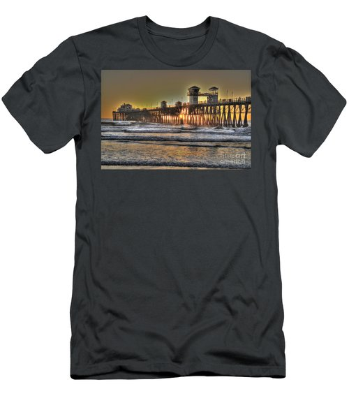 Oceanside Pier Hdr  Men's T-Shirt (Athletic Fit)