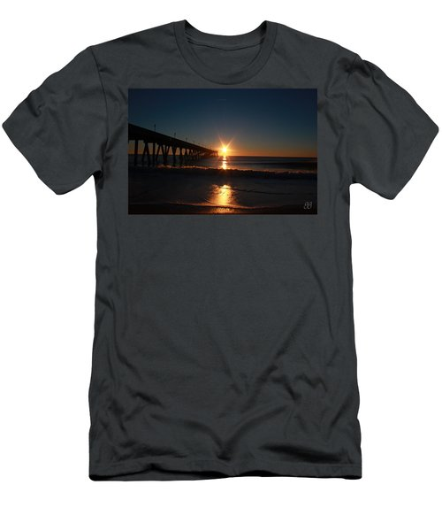 Oceanview Sunrise Men's T-Shirt (Slim Fit) by Geri Glavis