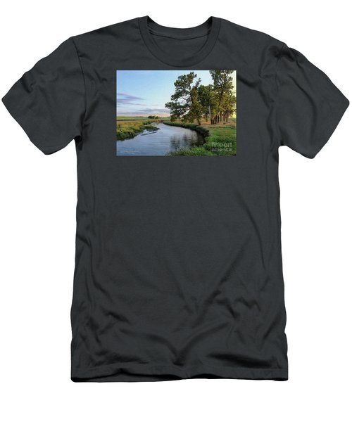 Ocheyedan Evening Men's T-Shirt (Slim Fit) by Bruce Morrison