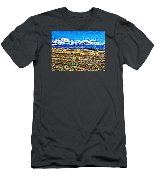 October Clouds Over Spanish Peaks Men's T-Shirt (Slim Fit) by Anastasia Savage Ealy