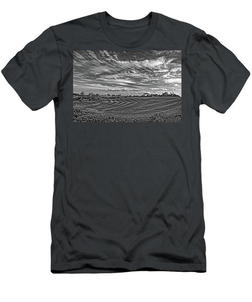 October Patterns Bw Men's T-Shirt (Athletic Fit)