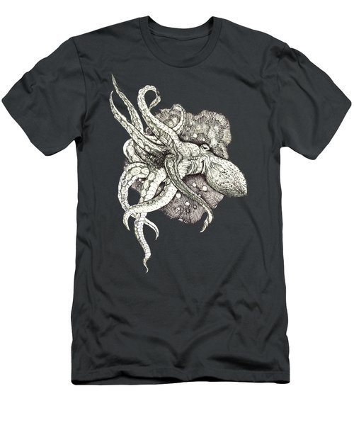 Octopus Men's T-Shirt (Slim Fit) by Adria Trail