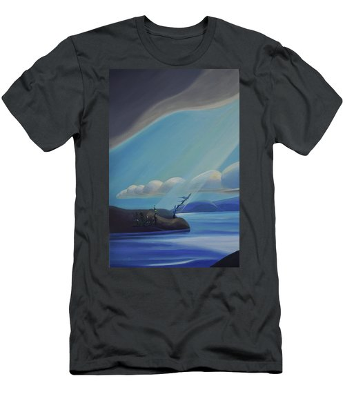 Ode To The North II - Left Panel Men's T-Shirt (Athletic Fit)