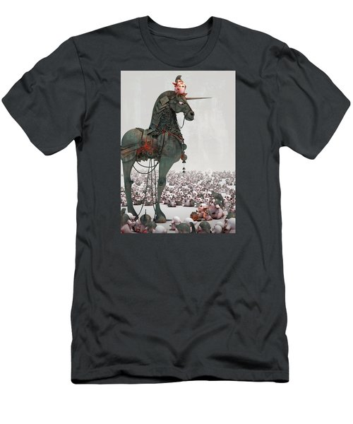 Men's T-Shirt (Slim Fit) featuring the digital art Offering by Te Hu