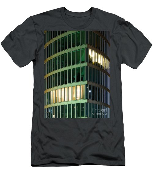 Office Building At Night Men's T-Shirt (Athletic Fit)