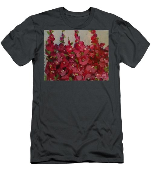 Oh My Hollyhocks Men's T-Shirt (Athletic Fit)