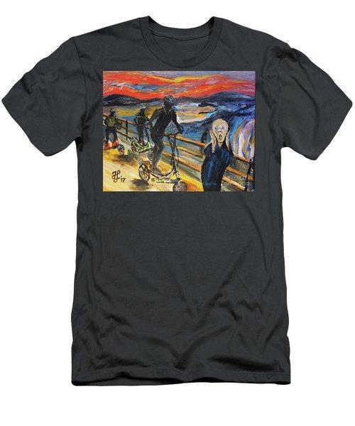 Oh No,elliptigo Men's T-Shirt (Athletic Fit)