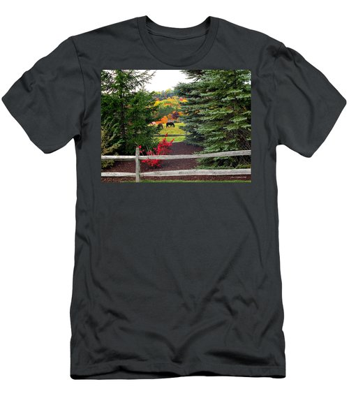 Ohio Farm In Autumn Men's T-Shirt (Athletic Fit)