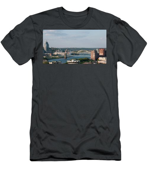 Ohio River's Suspension Bridge Men's T-Shirt (Athletic Fit)