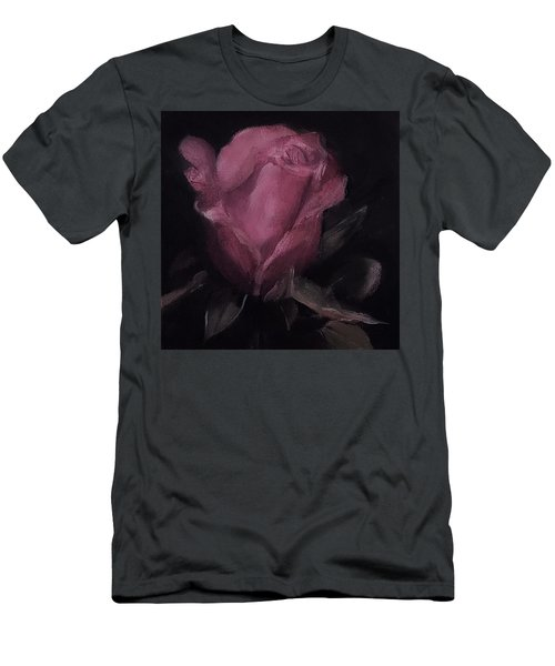 Oil Rose Painting Men's T-Shirt (Slim Fit)