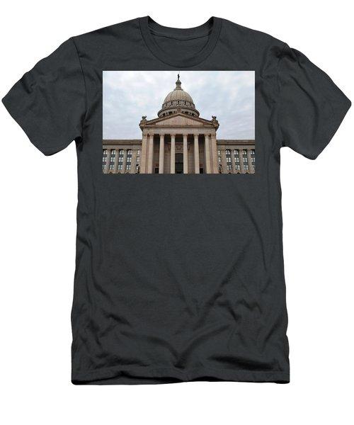 Oklahoma State Capitol - Front View Men's T-Shirt (Slim Fit) by Matt Harang
