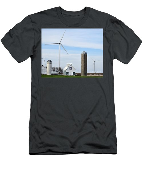 Old And New Farm Site Men's T-Shirt (Slim Fit) by Kathy M Krause