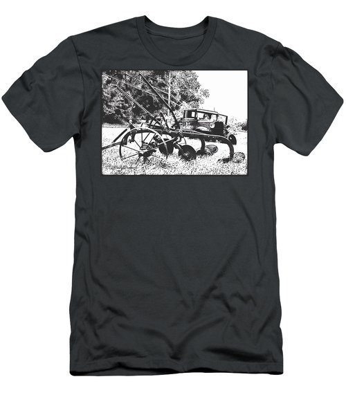 Old And Rusty In Black White Men's T-Shirt (Athletic Fit)