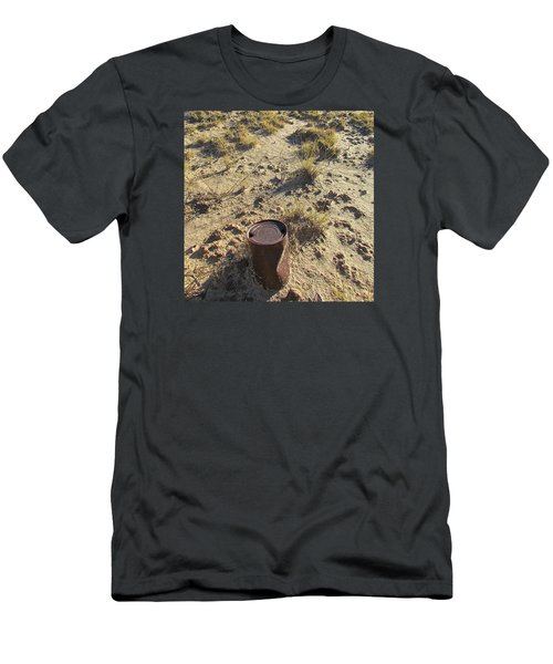 Men's T-Shirt (Slim Fit) featuring the photograph Old Beer Can by Brenda Pressnall