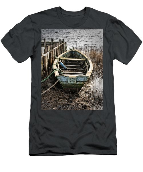 Old Boat Men's T-Shirt (Slim Fit) by Mike Santis