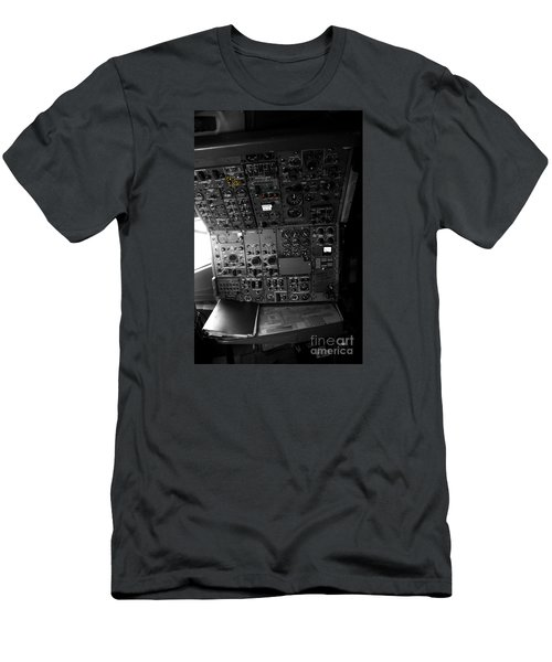 Old Boeing 727 Cockpit Men's T-Shirt (Slim Fit) by Micah May