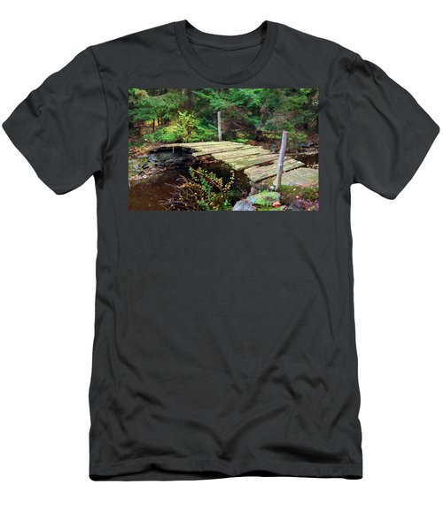Men's T-Shirt (Slim Fit) featuring the photograph Old Bridge by Francesa Miller