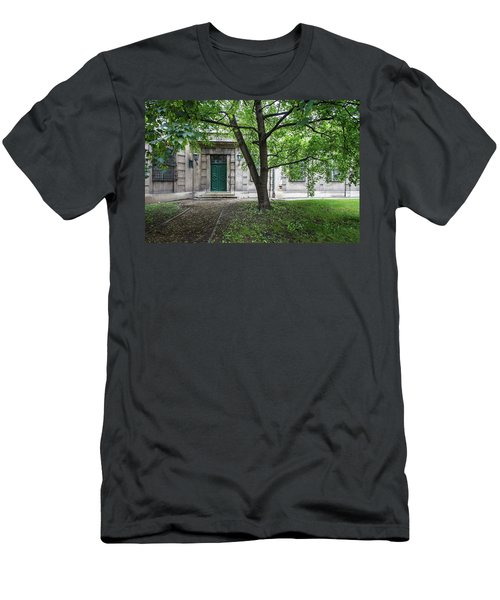 Old Building Exterior Men's T-Shirt (Slim Fit) by Teemu Tretjakov
