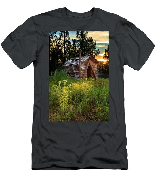 Old Cabin At Sunset Men's T-Shirt (Athletic Fit)