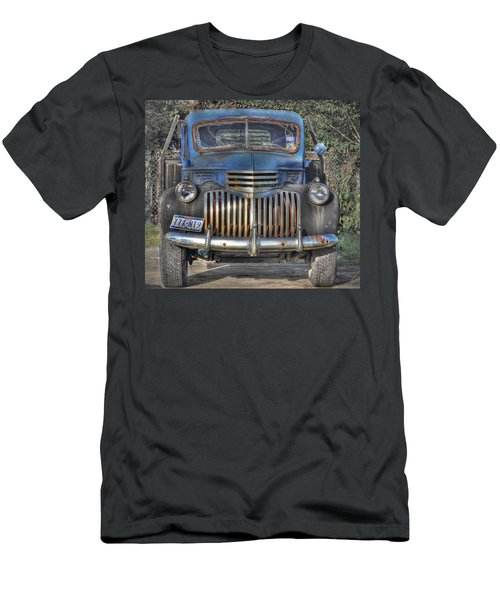 Men's T-Shirt (Slim Fit) featuring the photograph Old Chevy Truck by Savannah Gibbs