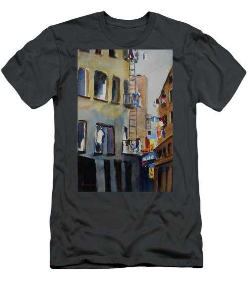 Old Chinatown Lane Men's T-Shirt (Slim Fit) by Tom Simmons