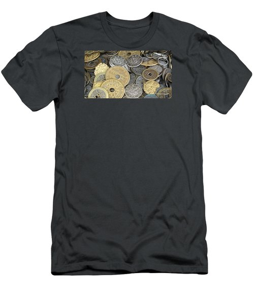 Old Chinese Coins And Money Men's T-Shirt (Slim Fit)