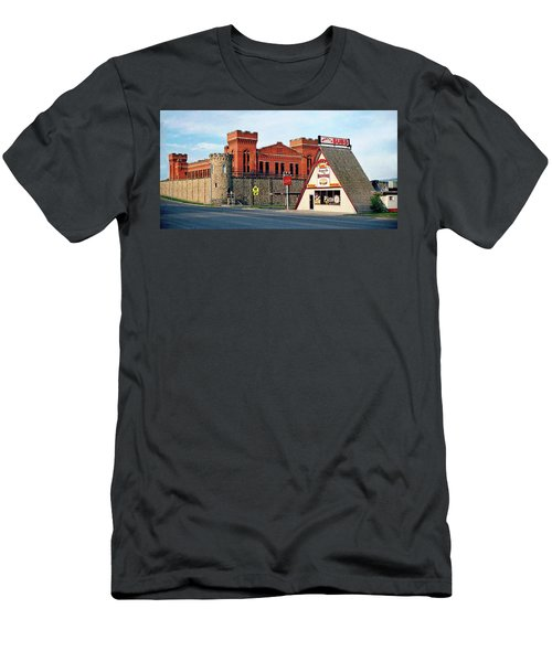 Old Deer Lodge Prison, Downtown, Vintage Men's T-Shirt (Athletic Fit)
