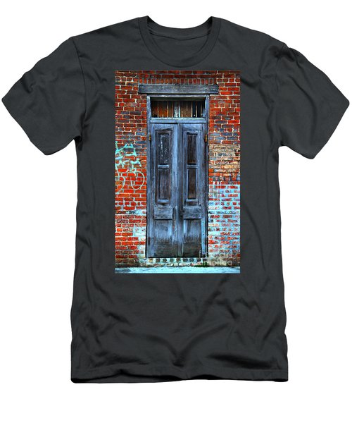 Old Door With Bricks Men's T-Shirt (Athletic Fit)