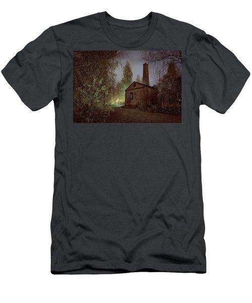 Old Factory Ruins Men's T-Shirt (Slim Fit) by Teemu Tretjakov