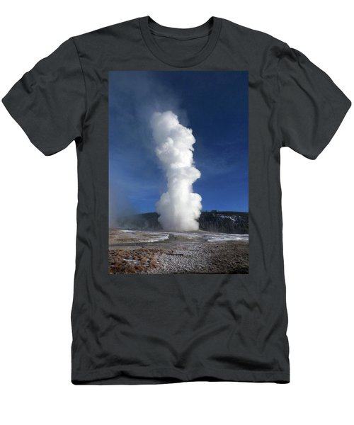 Old Faithful In Winter 2 Men's T-Shirt (Slim Fit) by C Sitton