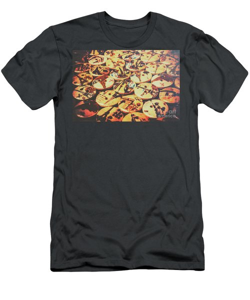 Old Fashion Landmark Buttons Men's T-Shirt (Athletic Fit)