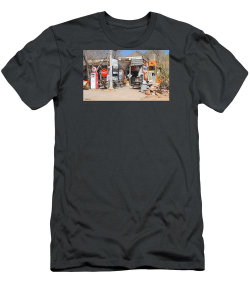 Old Gas Station, Historic Route 66 Men's T-Shirt (Athletic Fit)