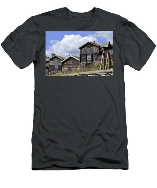 Old Houses In Roeros Men's T-Shirt (Slim Fit) by Thomas M Pikolin