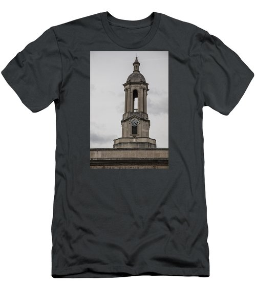 Old Main From Front Clock Men's T-Shirt (Slim Fit) by John McGraw