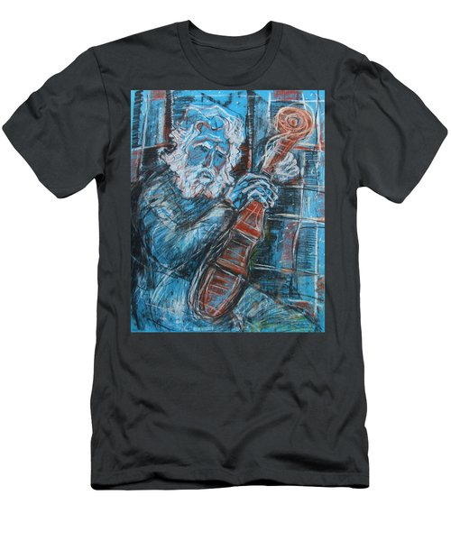 Old Man's Violin Men's T-Shirt (Athletic Fit)