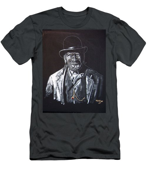 Men's T-Shirt (Athletic Fit) featuring the painting Old Maori Tane by Richard Le Page