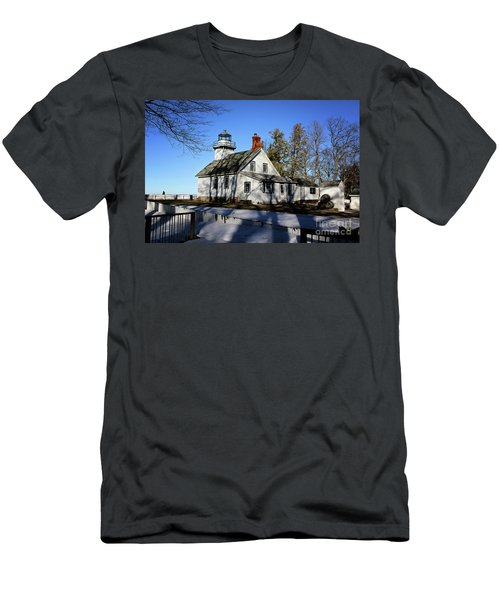 Old Mission Lighthouse Men's T-Shirt (Athletic Fit)