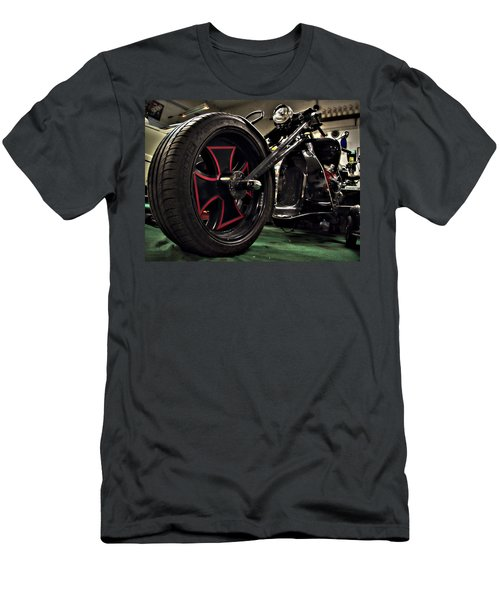 Old Motorbike Men's T-Shirt (Slim Fit) by Tamara Sushko