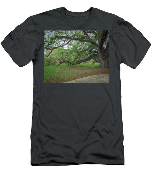 Men's T-Shirt (Slim Fit) featuring the photograph Old Oak Tree by Gregory Daley  PPSA
