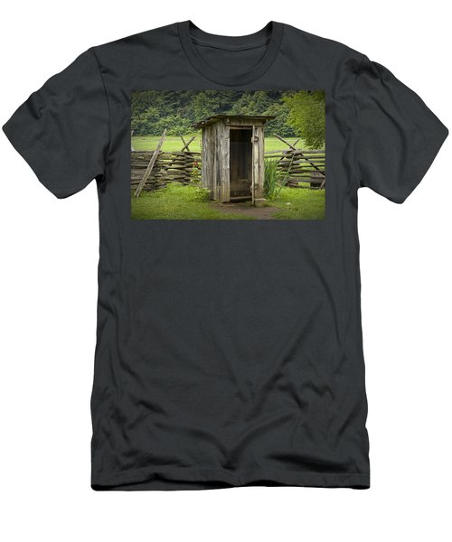 Old Outhouse On A Farm In The Smokey Mountains Men's T-Shirt (Slim Fit) by Randall Nyhof