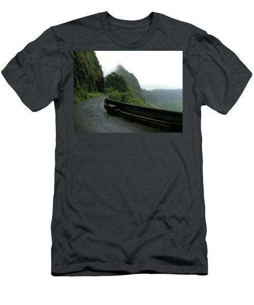 Men's T-Shirt (Slim Fit) featuring the photograph Old Pali Road, Oahu, Hawaii by Mark Czerniec