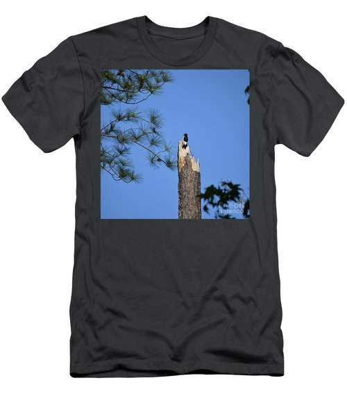 Men's T-Shirt (Slim Fit) featuring the photograph Old Red by Skip Willits