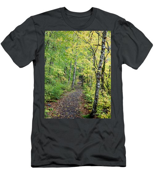 Men's T-Shirt (Athletic Fit) featuring the photograph Old Rr Right-away by Peter Simmons
