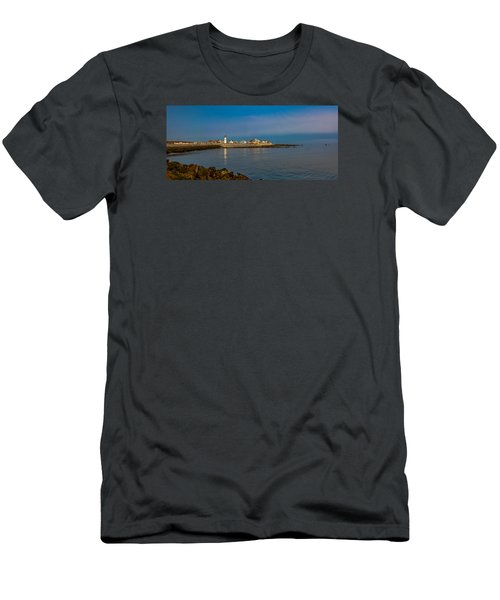 Old Scituate Light From The Jetty Men's T-Shirt (Athletic Fit)