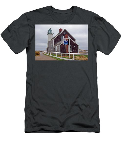 Old Scituate Lighthouse Men's T-Shirt (Athletic Fit)